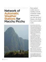 Network of Automatic Weather Stations for Macchu Picchu - Vaisala