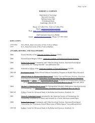 Robert j. sampson - WJH Home Page - Harvard University