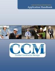 CCM Application Handbook (PDF) - CMAA