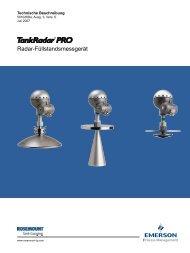 Radar-Füllstandsmessgerät - Rosemount TankRadar