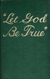Let God Be True - A2Z.org