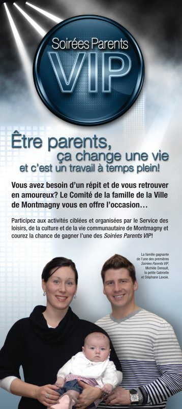 Parents VIP - Ville de Montmagny