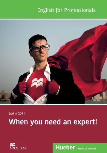 When you need an expert!