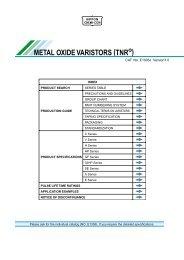 METAL OXIDE VARISTORS (TNR ) - Rockby
