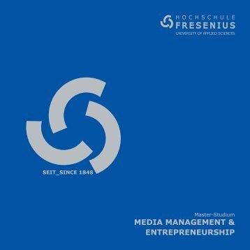 Media ManageMent & entrepreneurship - Hochschule Fresenius