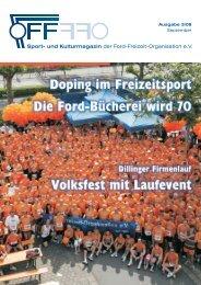 Sport- und Kulturmagazin der Ford-Freizeit-Organisation e.V.