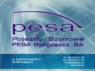PESA Bydgoszcz SA - SISKOM