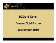 B2Gold Corp. - gowebcasting