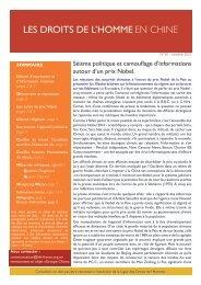 bulletin Chine n°50 - Ligue des droits de l'Homme