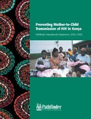 Preventing Mother-to-Child Transmission of HIV in Kenya Pathfinder ...