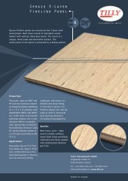 Spruce 3-Layer Fineline Panel - Tilly Forstbetriebe G.m.b.H.