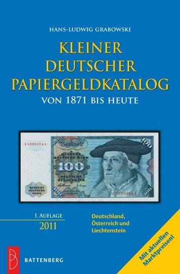 KLEINER DEUTSCHER PAPIERGELDKATALOG ... - Gietl Verlag
