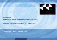 Open Government Data und Informationsfreiheit