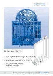 RP-hermetic FINELINE – das filigrane Fenstersystem ... - RP Technik