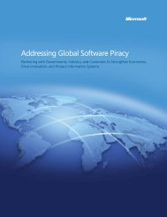 Addressing Global Software Piracy - Microsoft