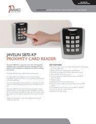 Javelin S870-KP ProximiTy card reader - AMAG