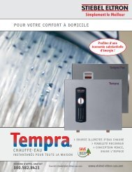 Tempra Chauffe-eau instantanés Pour Toute la Maison - Stiebel Eltron