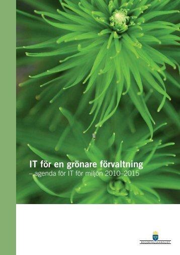 IT för en grönare förvaltning - Government Offices of Sweden