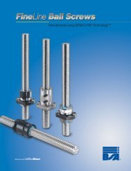 FineLine Ball Screws - Electromate Industrial Sales Limited