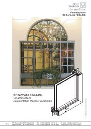 RP-hermetic FINELINE Fenstersystem - RP Technik