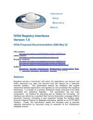 IVOA Registry Interfaces Version 1.0 - International Virtual