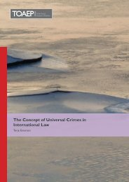 The Concept of Universal Crimes in International Law - FICHL