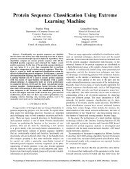 Protein Sequence Classification Using Extreme Learning Machine