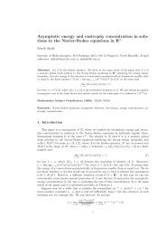 tions to the Navier-Stokes equations in R3