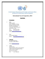 United Nations Department of Economic and Social Affairs Division ...