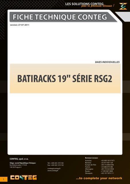 """fiche technique conteg batiracks 19"""" série rsg2"""