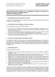 Hoja informativa para personas con la obligación de ... - Stadt Zürich