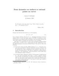 From dynamics on surfaces to rational points on - Department of ...