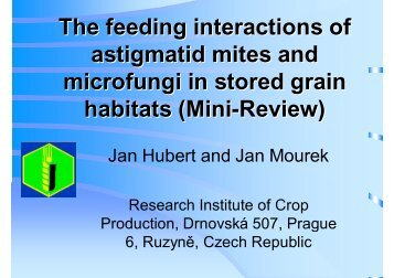 The feeding interactions of astigmatid mites and microfungi in stored ...