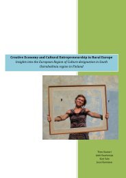 Creative Economy and Cultural Entrepreneurship in Rural Europe