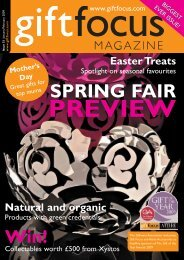 SPRING FAIR - Gift Focus magazine
