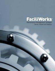FaciliWorks CMMS Software - Desktop, Server, Hosted - NFMT