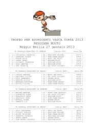 27/01/2013-Trofeo Esordienti 2013 (Reggio) - CSI Nuoto Ober ...