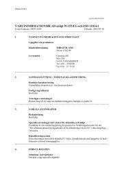 VARUINFORMATIONSBLAD enligt 91/155/EG och ISO ... - Smelink