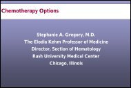 Chemotherapy Options - CECity
