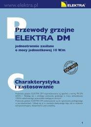 Przewody Grzejne DM Broszura - SystemyGrzejne.pl
