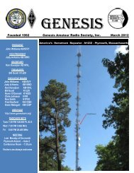 New Business - Genesis Amateur Radio Society's