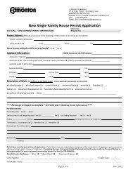 New Single Family House Permit Application - City of Edmonton