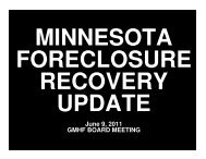 Foreclosure Recovery - St. Louis County
