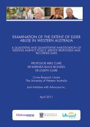 Examination of the Extent of Elder Abuse - Faculty of Law - The ...