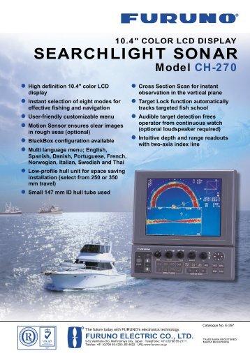 """10.4"""" searchlight sonar ch-270 - Furuno"""