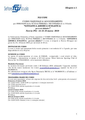 ginnastica aerobica scolastica - Comitato Regionale Campania F.G.I.