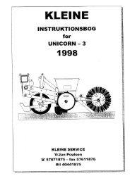 3. 1998, Instruktion- & resv. bog.pdf - Hjallerup Maskinforretning A/S