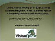 Dave Douglas, VisionQuest Environmental - Compost Council of ...