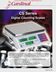 CS Series - Scale Manuals