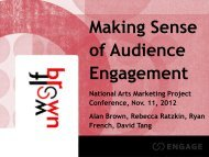 Making Sense of Audience Engagement - National Arts Marketing ...